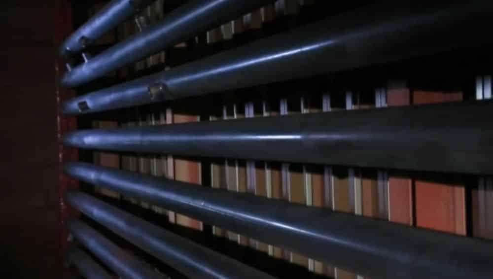 horno de tubos pintados electrostaticamente